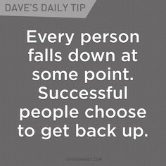 Get Back Up via @DaveRamsey #peace