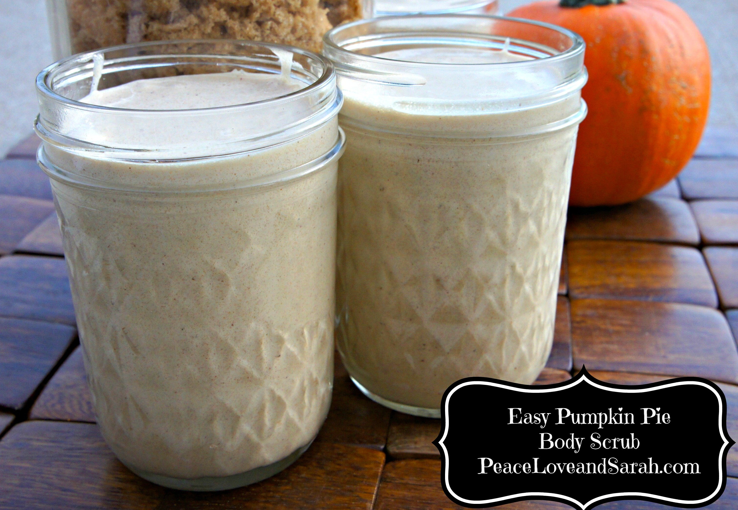 Pumpkin Pie Body Scrub from PeaceLoveandSarah.com #DIY