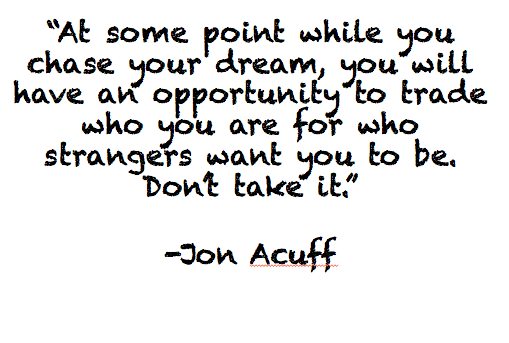 Don't Take It. Via @JonAcuff